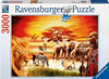 savannah-masai,ravensburger jigsaw puzzle, 3000 pieces, painting of african savannah masai by carden design ravensb