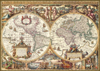antique-world-map,Antique World Map Historical 1000 Pieces Jigsaw Puzzle by Ravensburger Puzles Germany # 190041