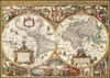 Antique World Map Historical 1000 Pieces Jigsaw Puzzle by Ravensburger Puzles Germany # 190041
