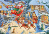 Roy Trower Artist Santas sleigh ride visit christmas Ravenbsurger JigsawPuzzles thousand pieces jigs
