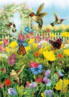 summer-in-the-meadow,Summer in the Meadow hummingbirds and butterflies ravensburger 1000 piece jigsaw puzzel # 190591
