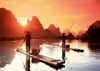 Sunset Fishing Ravensburger 1000 Piece Jigsaw Jungle Puzzle photograph