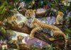leopard family 1000 piece jigsaw puzzle by ravensburger germany # 191482 Puzzle