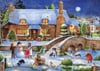 Debbie Cook Artist idyllic christmas frosty the snowman is with kids christmas Ravenbsurger JigsawPu