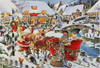 Roy Trower Artist Santa Needs Directions christmas Ravenbsurger JigsawPuzzles thousand pieces jigsaw