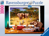 Ravesburger JigsawPuzzle 1000 pieces elephants and night time visitors 193745