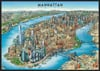 manhattan map new york city photographs by unique media inc. ravensburger jigsaw puzzle, 1000 pieces