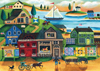Village Harbor by Cherly Bartley Next Day Art 1000 Pieces JigsawPuzzles Ravensburger 194070