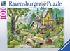Joseph Burgess' Cottage in Path to West Arbor 1000 Piece Jigsaw Puzzle by Ravensburger Games Puzzle