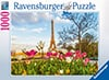 paris eiffel tower tulips jigsaw puzzle, ravensburger, 1000 pieces, david stern