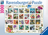 Vintage Postage Stamps mosaic by finchley paper arts 1000 Piece Puzzle by RavensburgerJigsawPuzzles