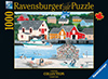 Wilfrido Limvalencia Canadian Artist Fisherman's Cove Ravenbsurger JigsawPuzzles thousand pieces jig