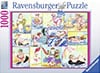 Bathing Beach Beauties painting 1000Piece JigsawPuzzle by Ravensberger Puzzles