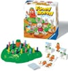 funny bunny children's game hop over the holes and race to the top