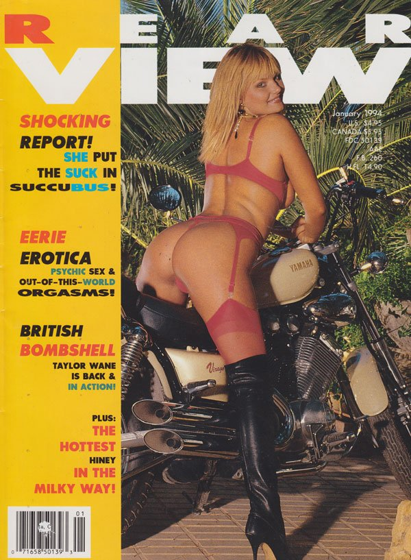 Rear View January 1994 magazine back issue Rear View magizine back copy rear view magazine 1994 back issues hot erotica psychic sex anal shots upclose dirty babes spread wi