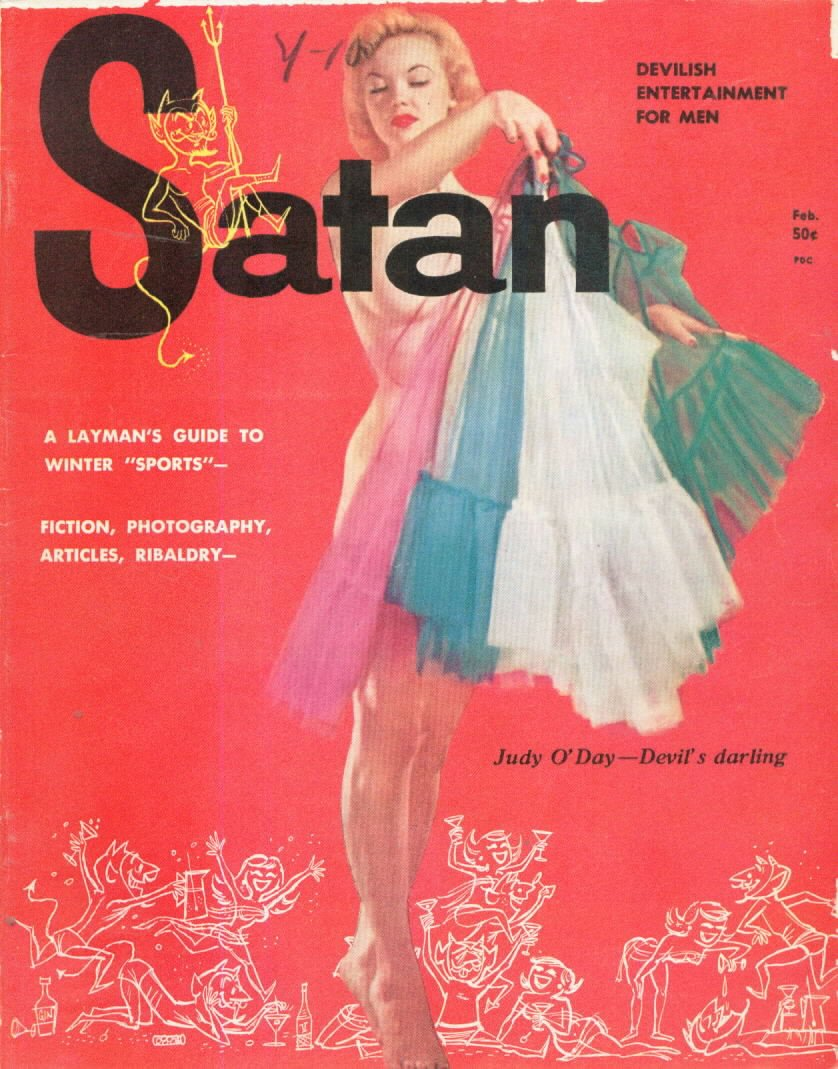 Satan February 1957 magazine back issue Satan magizine back copy