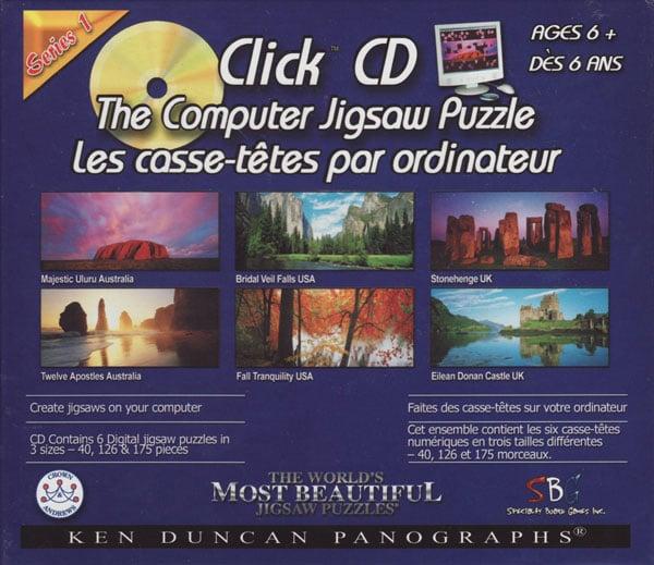 cd computerpuzzle jigsaw uluru australia bridalveil falls stonehenge twelveapostles falltranquility clickcdthecomputerjigsawpuzzleseries1
