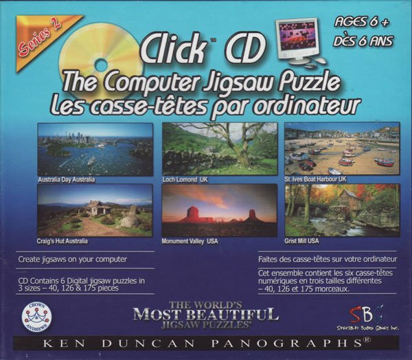 Computer CD compact disc jigsaw puzzel game for ages 6 and up with 6 images by phoptographer kendunc clickcdthecomputerjigsawpuzzleseries2