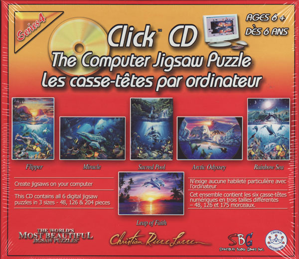 Jigsaw Puzzle CD computer games by SBG and Cristian rease lassen marine artwork artist usa clickcdthecomputerjigsawpuzzleseries4