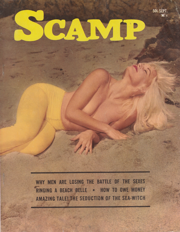 Scamp September 1963 magazine back issue Scamp magizine back copy why men are losing the battle of the sexes ringing a beach belle how to owe money the seduction of t