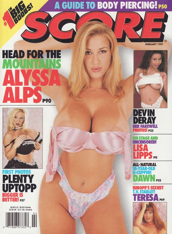 Score February 1997 magazine back issue Score magizine back copy score magazine 1997 back issues big boobs hot huge titters plenty uptopp curvy busty ladies xxx pics