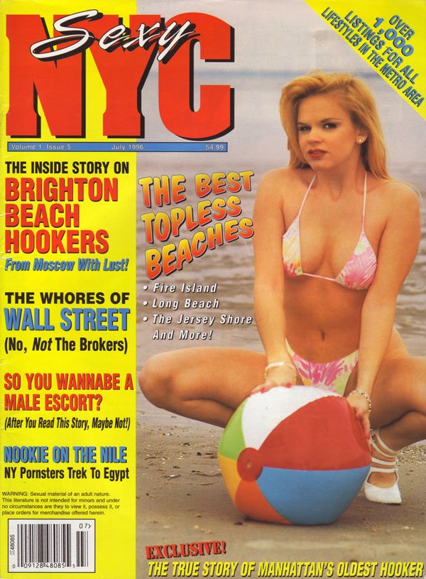 Sexy NYC Vol. 1 # 5 magazine back issue Sexy NYC magizine back copy sexy nyc magazine 1996 back issues no 5 best topless in new york city hookers whores of wall street