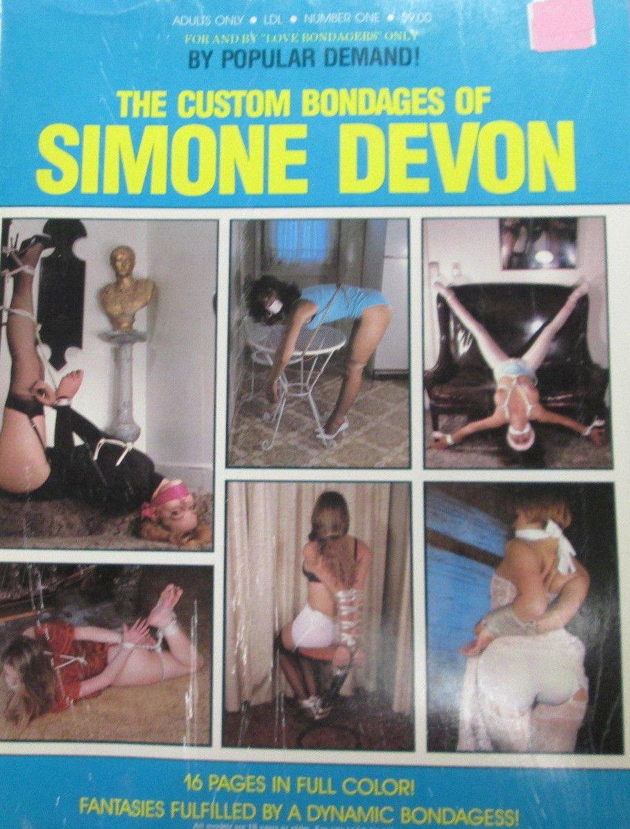 Custom Bondages of Simone Devon # 1 magazine back issue Custom Bondages of Simone Devon magizine back copy