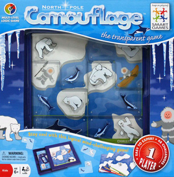 Camouflage North Pole, Logic Game Made by Smart Games camouflag-north-pole