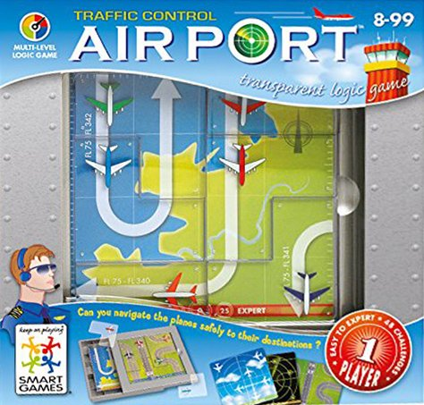 Airport Traffic Control. Multi-Level Logic Game Made by Smart Games airport-traffic-control