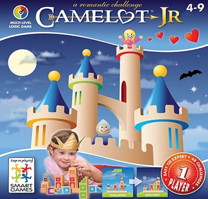 Camelot Junior Block Building Logic Game Made by Smart Games camelot-junior