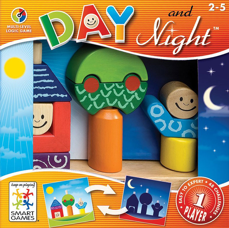 Day and Night, Block Building Logic Game Made by Smart Games day-and-night