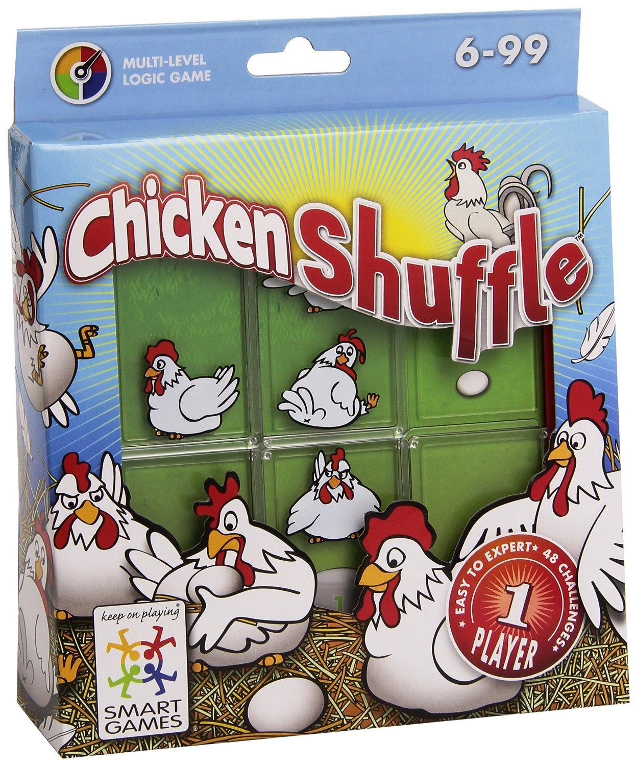 Chicken Shuffle Logic Game Made by Smart Games chicken-shuffle