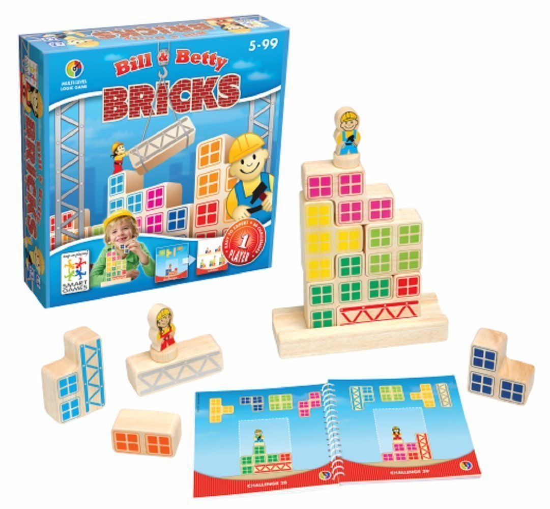 Bill & Betty Bricks Multi-Level Logic Game Made by Smart Games bill-betty-bricks