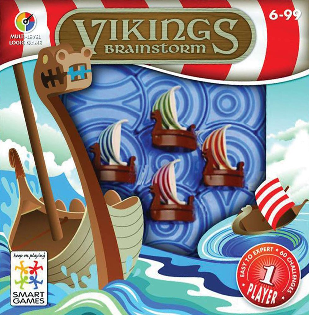 Vikings Brainstorm. Multi-Level Logic Game Made by Smart Games vikings-brainstorm