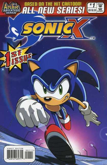 Sonic X Comic Book Back Issues by A1 Comix