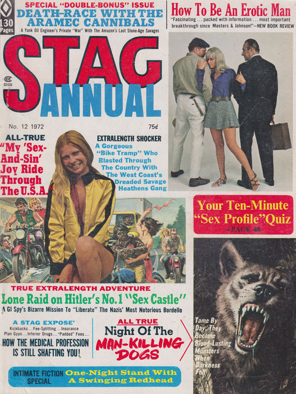 Stag Annual # 12 - 1972 magazine back issue Stag magizine back copy stag annual 1972 back issues hot erotic stories true tales intimate fiction xxx action adventure boo