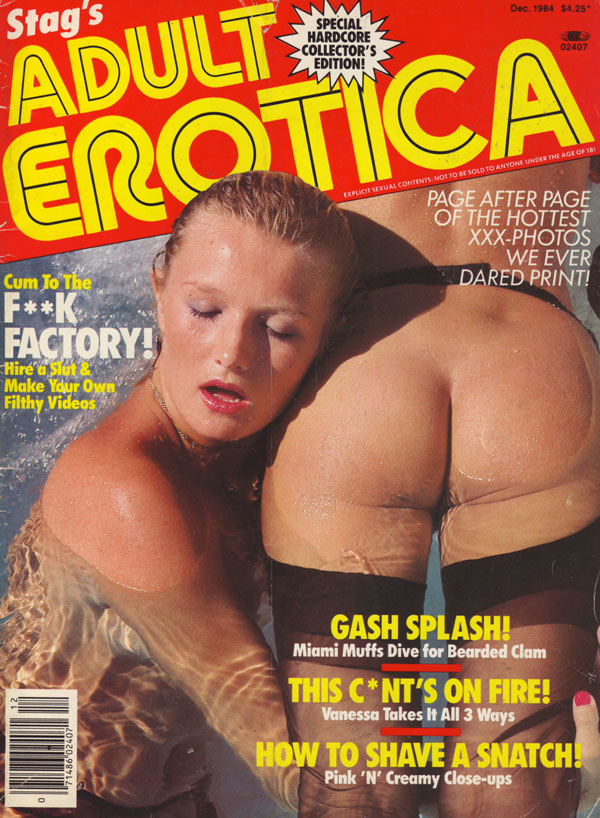 stag december adult erotica magazine back issue