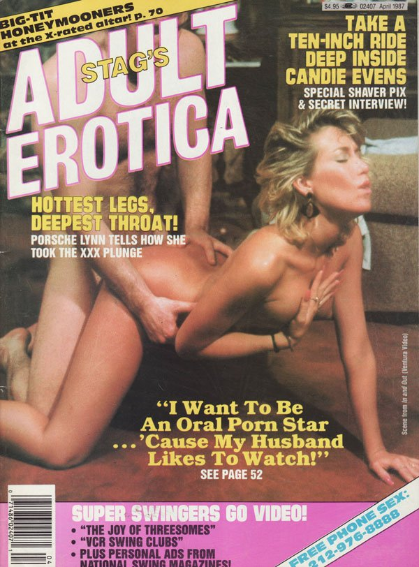 Stag April 1987 - Adult Erotica magazine back issue Stag magizine back copy stag's adult erotica series magazine 1987 back issues hottest legsdeepest throat in porn big-tit gir