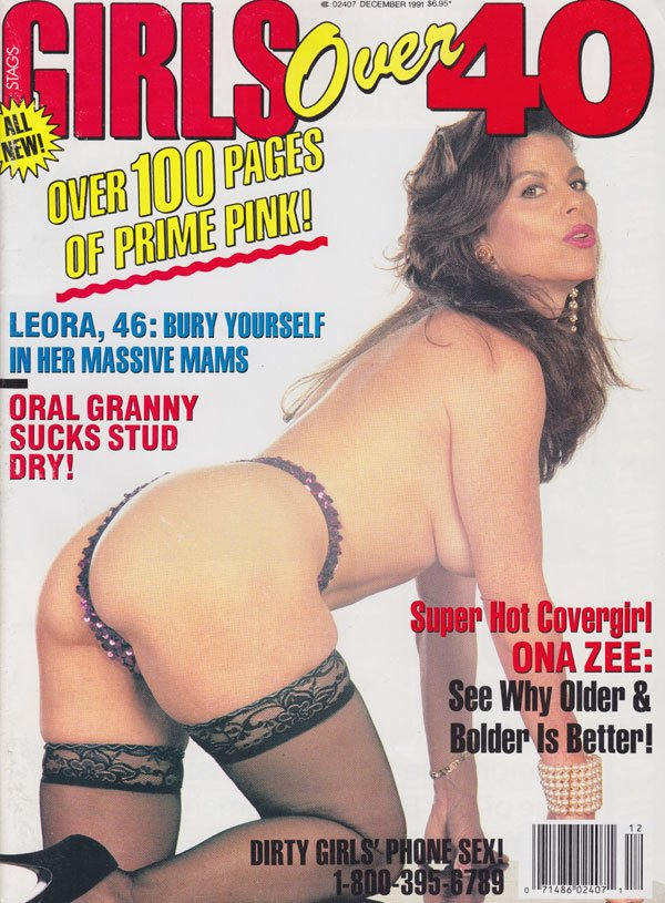 Stag December 1991 - Girls Over 40 magazine back issue Stag magizine back copy girls over 40 magazine 1991 back issues prime pink hottest granny porn pix massive mams naughty moms