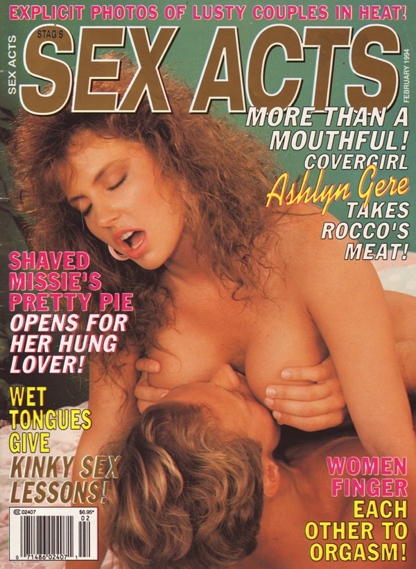 Stag February 1994 magazine back issue Stag magizine back copy stag sex acts explicit photos lusty couples heat mouthful ashlyn gere rocco meat shaved kinky sex