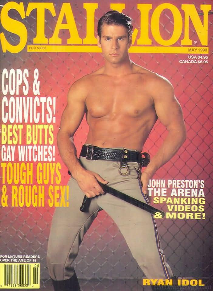 Stallion May 1993 magazine back issue Stallion magizine back copy