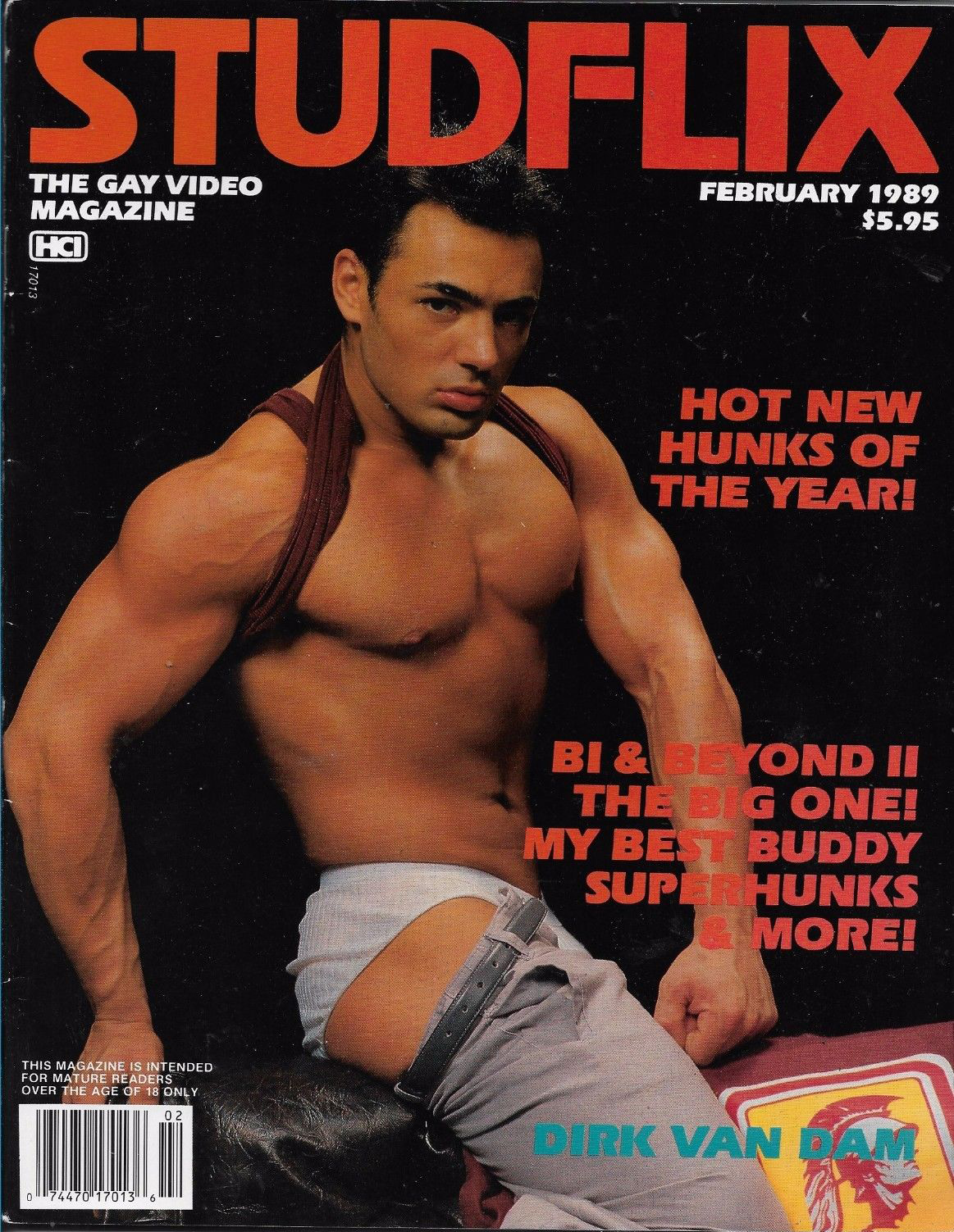 StudFlix February 1989 magazine back issue StudFlix magizine back copy