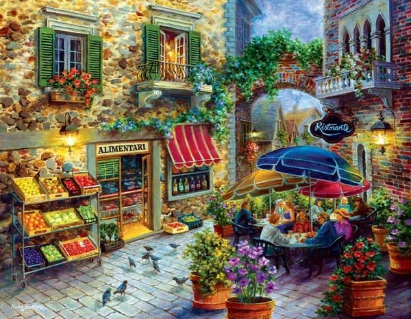 contentment painted by nicky boehme 1000 piece jigsaw puzzle manufactured by suns out contentment-sunsout