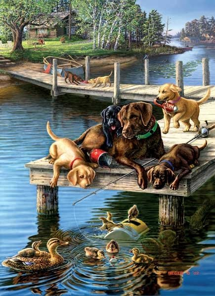 Summer School painted by James Meger 1000 piece jigsaw puzzle manufactured by suns out summer-school-sunsout
