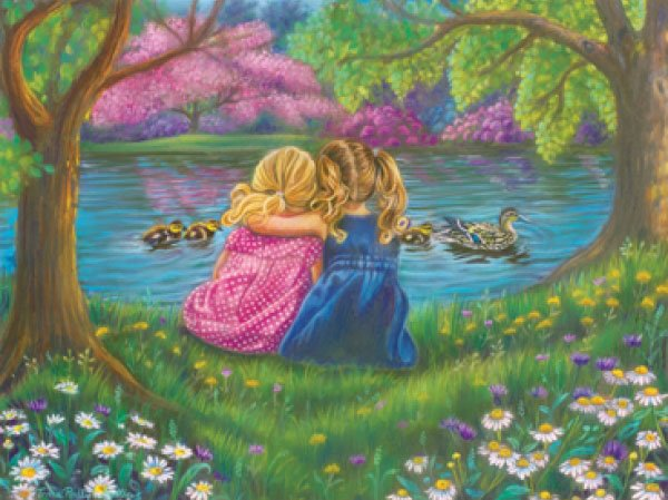 I will Be There painted by Tricia Reilly-Matthews 1000 piece jigsaw puzzle manufactured by suns out ill-be-there-sunsout