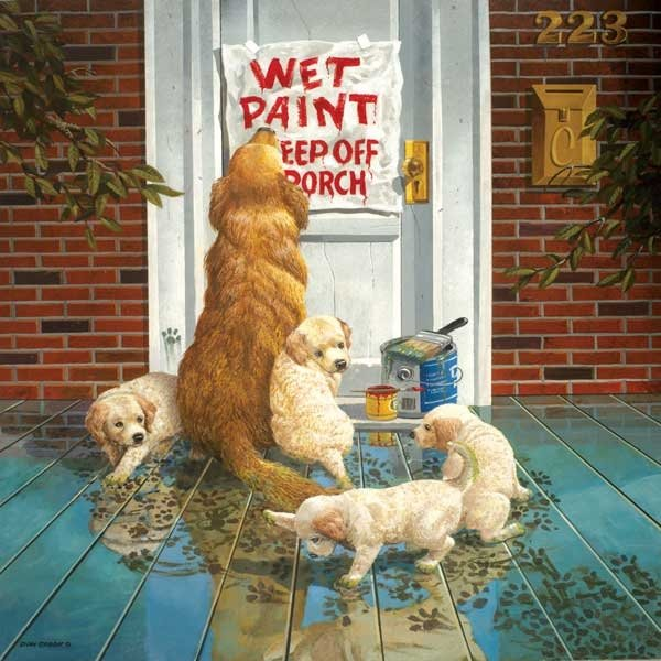 Wet Paint painted by Don Crook 1000 piece jigsaw puzzle manufactured by suns out wet-paint-sunsout