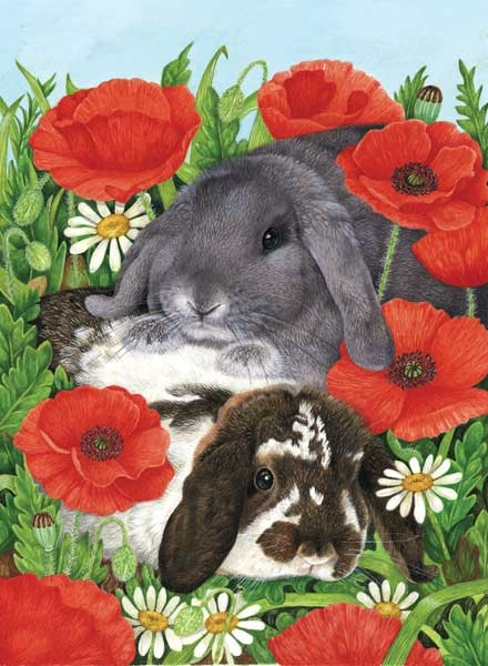 Red Poppies painted by Avril Haynes 300 piece jigsaw puzzle manufactured by suns out red-poppies-sunsout