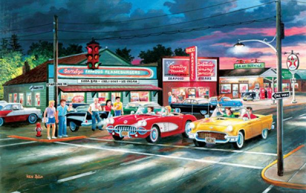 Anticipation painted by Ken Zylla 1000 piece jigsaw puzzle manufactured by suns out anticipation-sunsout