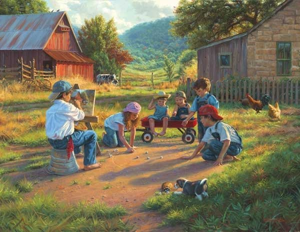 The Art of Young painted by Mark Keathley 1000 piece jigsaw puzzle manufactured by suns out the-art-of-young-sunsout