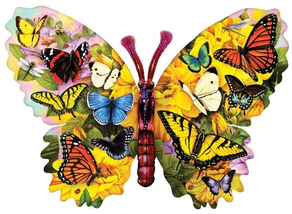 Wings of Color painted by Greg & Co 1000 piece jigsaw puzzle manufactured by suns out wings-of-color-sunsout
